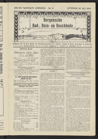 Bergensche bad-, duin- en boschbode 1930-07-26