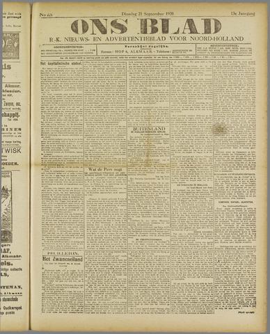 Ons Blad : katholiek nieuwsblad voor N-H 1920-09-21