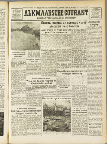 Alkmaarsche Courant 1955-02-22