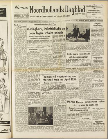 Nieuw Noordhollandsch Dagblad : voor Alkmaar en omgeving 1951-04-03