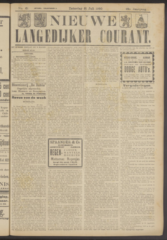 Nieuwe Langedijker Courant 1920-07-31