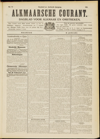 Alkmaarsche Courant 1911-01-16