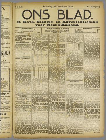 Ons Blad : katholiek nieuwsblad voor N-H 1908-12-19