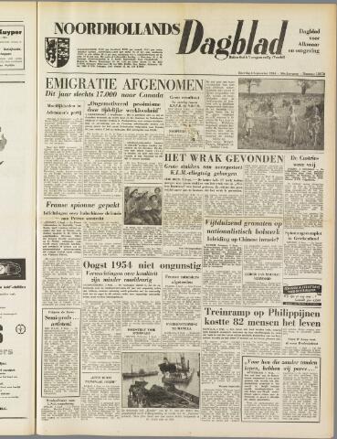 Noordhollands Dagblad : dagblad voor Alkmaar en omgeving 1954-09-04