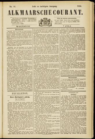 Alkmaarsche Courant 1886-07-07