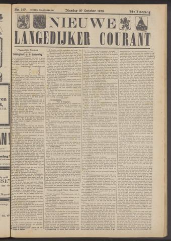 Nieuwe Langedijker Courant 1925-10-27