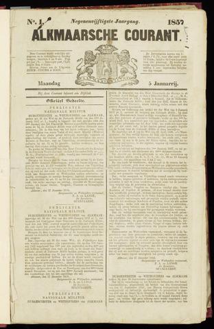 Alkmaarsche Courant 1857-01-05