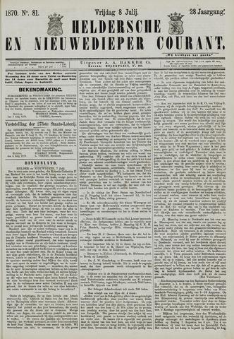 Heldersche en Nieuwedieper Courant 1870-07-08