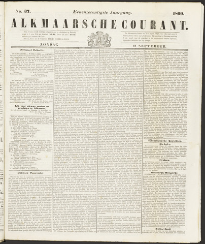 Alkmaarsche Courant 1869-09-12