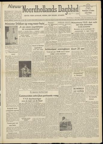 Nieuw Noordhollandsch Dagblad : voor Alkmaar en omgeving 1948-11-11