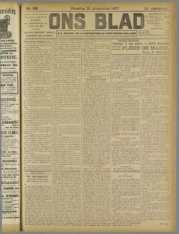 Ons Blad : katholiek nieuwsblad voor N-H 1917-08-21