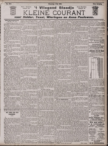 Vliegend blaadje : nieuws- en advertentiebode voor Den Helder 1903-05-06