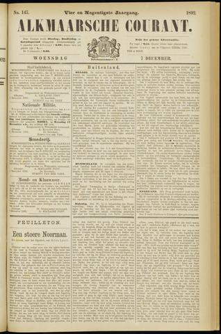 Alkmaarsche Courant 1892-12-07