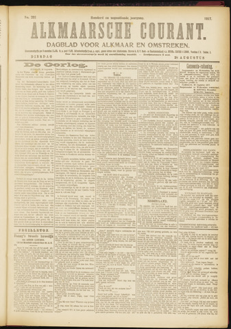 Alkmaarsche Courant 1917-08-28