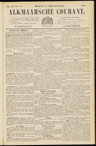 Alkmaarsche Courant 1903-09-16