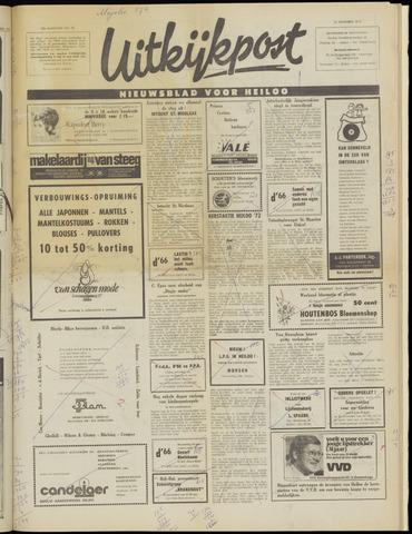 Uitkijkpost : nieuwsblad voor Heiloo e.o. 1972-11-22