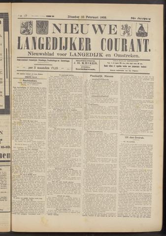 Nieuwe Langedijker Courant 1925-02-10