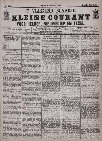 Vliegend blaadje : nieuws- en advertentiebode voor Den Helder 1880-10-08