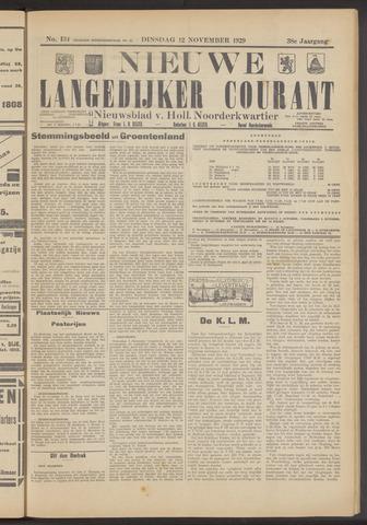 Nieuwe Langedijker Courant 1929-11-12
