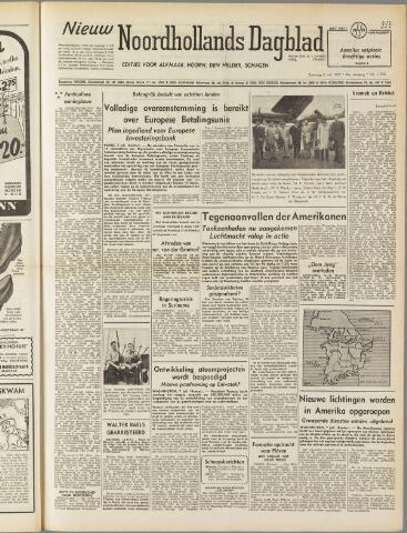 Nieuw Noordhollandsch Dagblad : voor Alkmaar en omgeving 1950-07-08