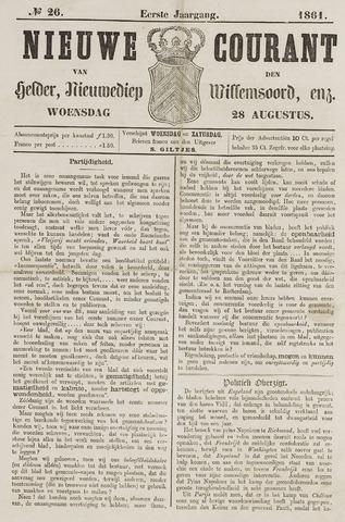Nieuwe Courant van Den Helder 1861-08-28