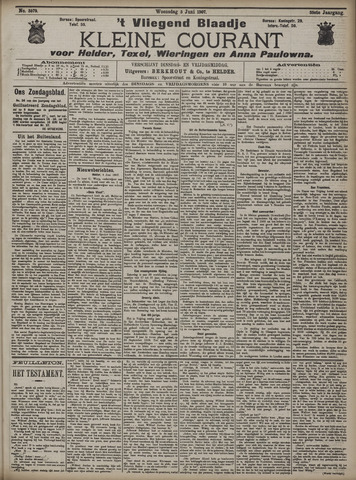 Vliegend blaadje : nieuws- en advertentiebode voor Den Helder 1907-06-05