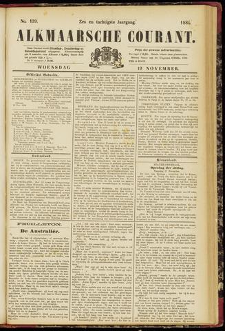 Alkmaarsche Courant 1884-11-19
