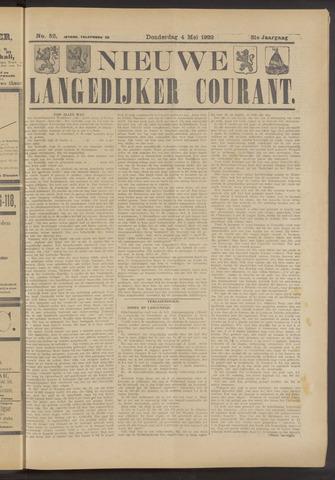 Nieuwe Langedijker Courant 1922-05-04