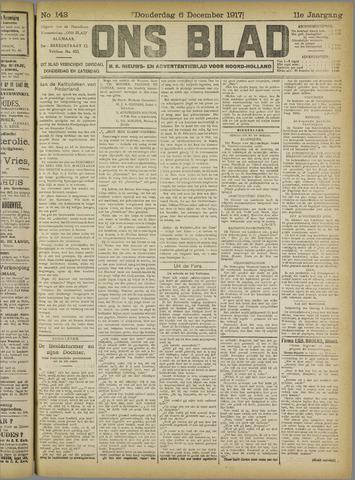 Ons Blad : katholiek nieuwsblad voor N-H 1917-12-06