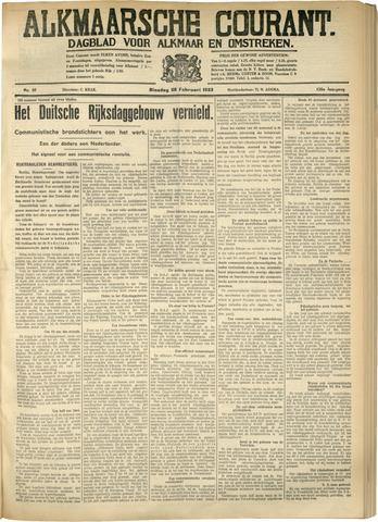 Alkmaarsche Courant 1933-02-28