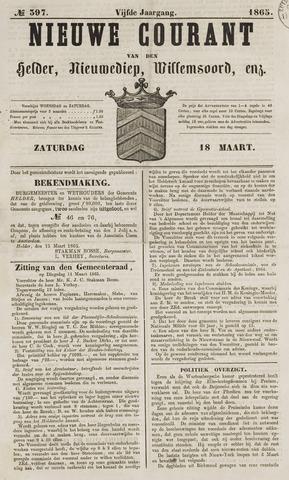 Nieuwe Courant van Den Helder 1865-03-18