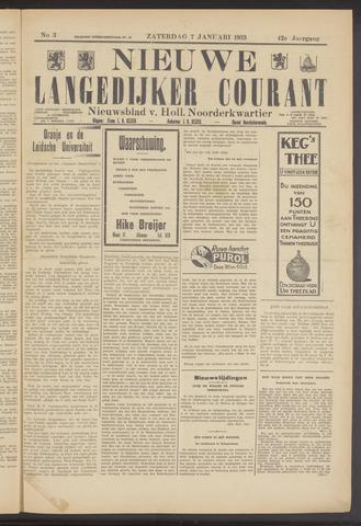 Nieuwe Langedijker Courant 1933-01-07