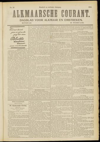 Alkmaarsche Courant 1914-02-10