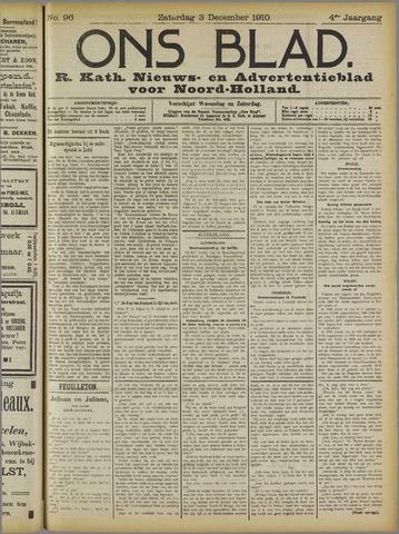 Ons Blad : katholiek nieuwsblad voor N-H 1910-12-03