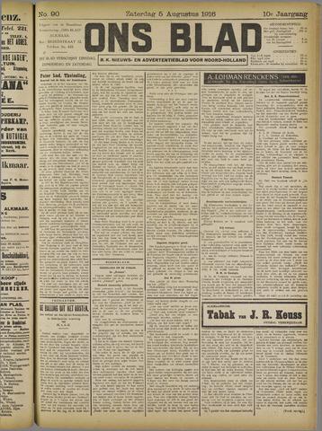 Ons Blad : katholiek nieuwsblad voor N-H 1916-08-05
