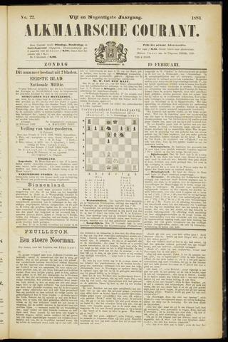 Alkmaarsche Courant 1893-02-19