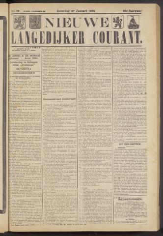 Nieuwe Langedijker Courant 1923-01-27