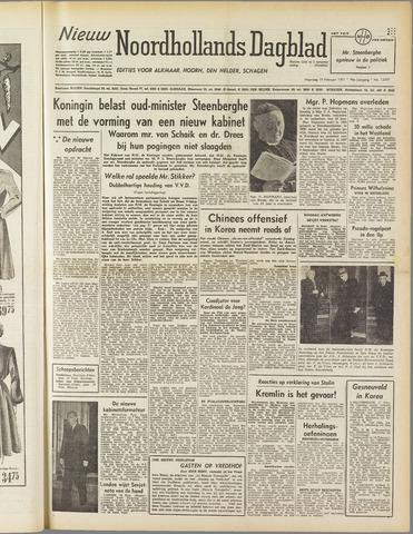 Nieuw Noordhollandsch Dagblad : voor Alkmaar en omgeving 1951-02-19
