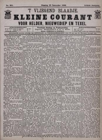 Vliegend blaadje : nieuws- en advertentiebode voor Den Helder 1880-11-23
