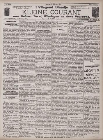Vliegend blaadje : nieuws- en advertentiebode voor Den Helder 1914-02-14