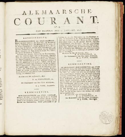 Alkmaarsche Courant 1817-01-27