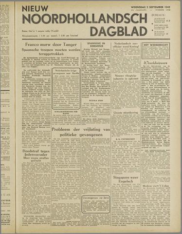 Nieuw Noordhollandsch Dagblad : voor Alkmaar en omgeving 1945-09-05