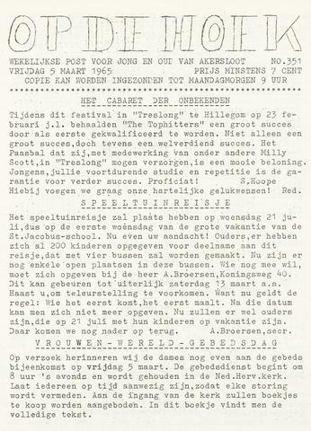 Op De Hoek, weekblad voor Akersloot 1965-03-05