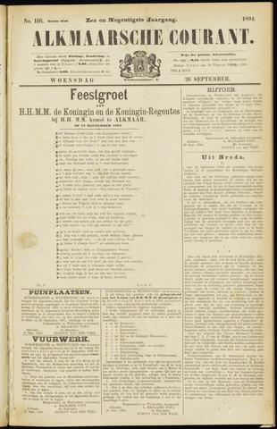 Alkmaarsche Courant 1894-09-26