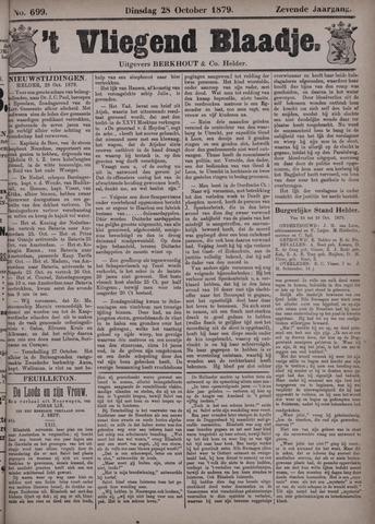 Vliegend blaadje : nieuws- en advertentiebode voor Den Helder 1879-10-28
