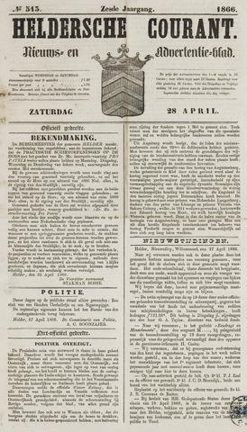 Heldersche Courant 1866-04-28