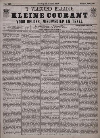 Vliegend blaadje : nieuws- en advertentiebode voor Den Helder 1880-01-20