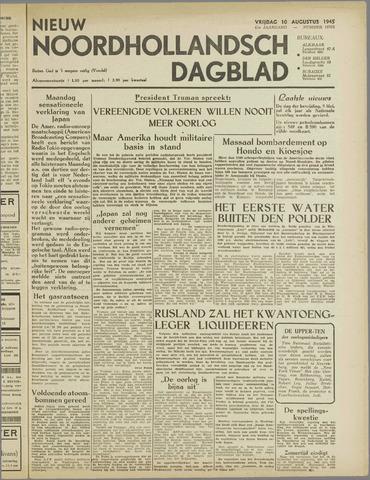 Nieuw Noordhollandsch Dagblad : voor Alkmaar en omgeving 1945-08-10