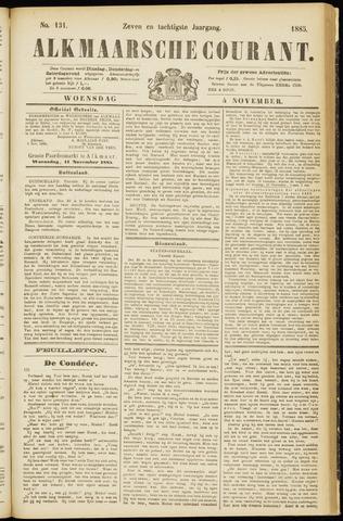 Alkmaarsche Courant 1885-11-04