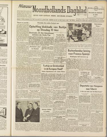 Nieuw Noordhollandsch Dagblad : voor Alkmaar en omgeving 1949-05-03